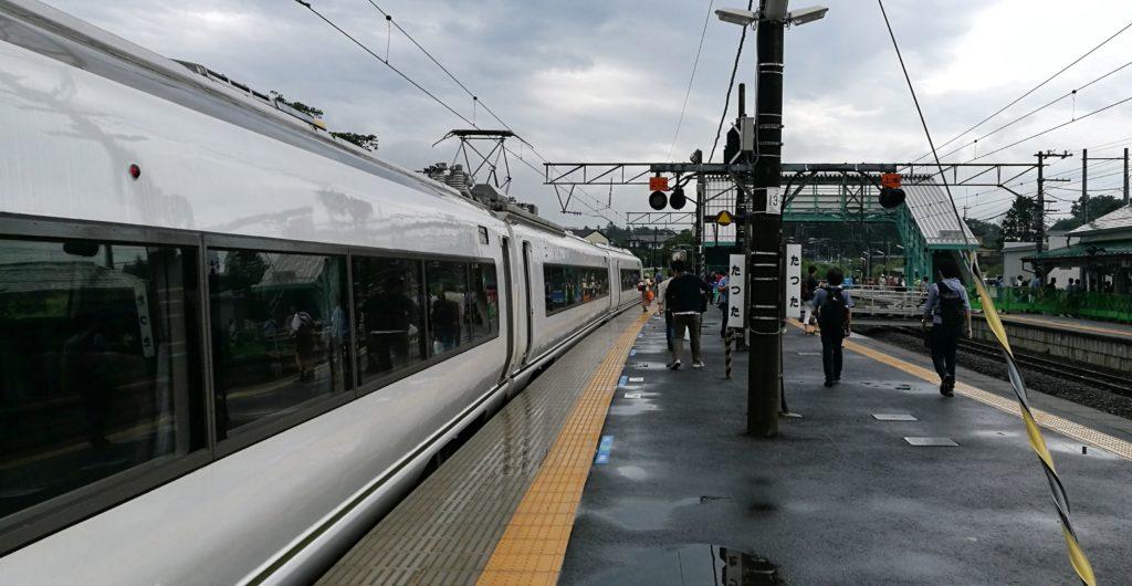651系と竜田駅