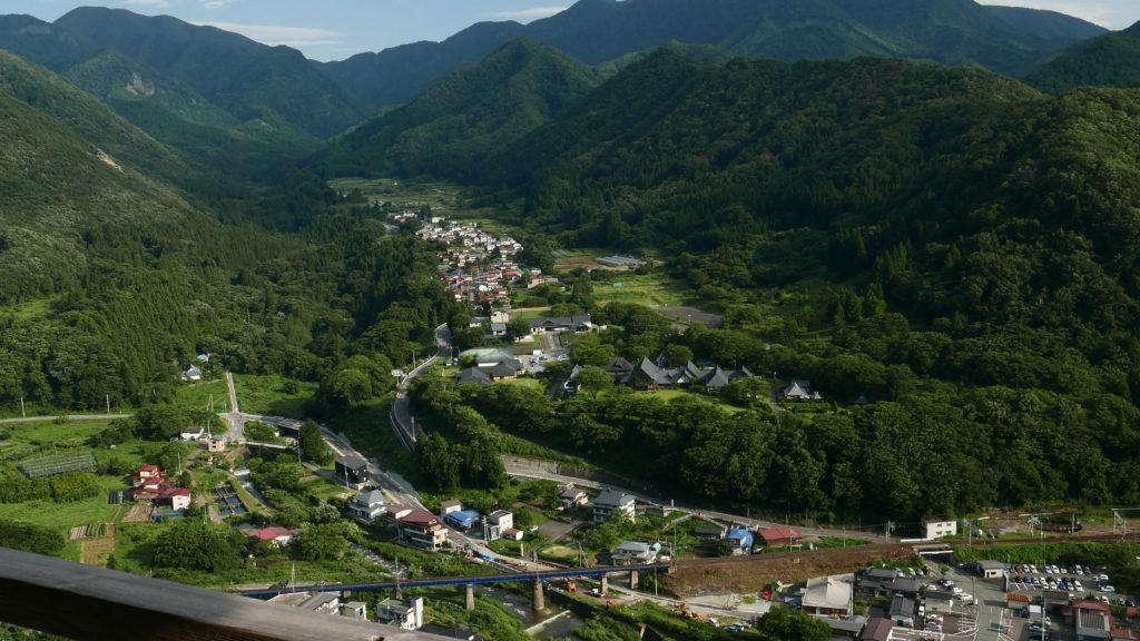 山寺の五大堂からの景色