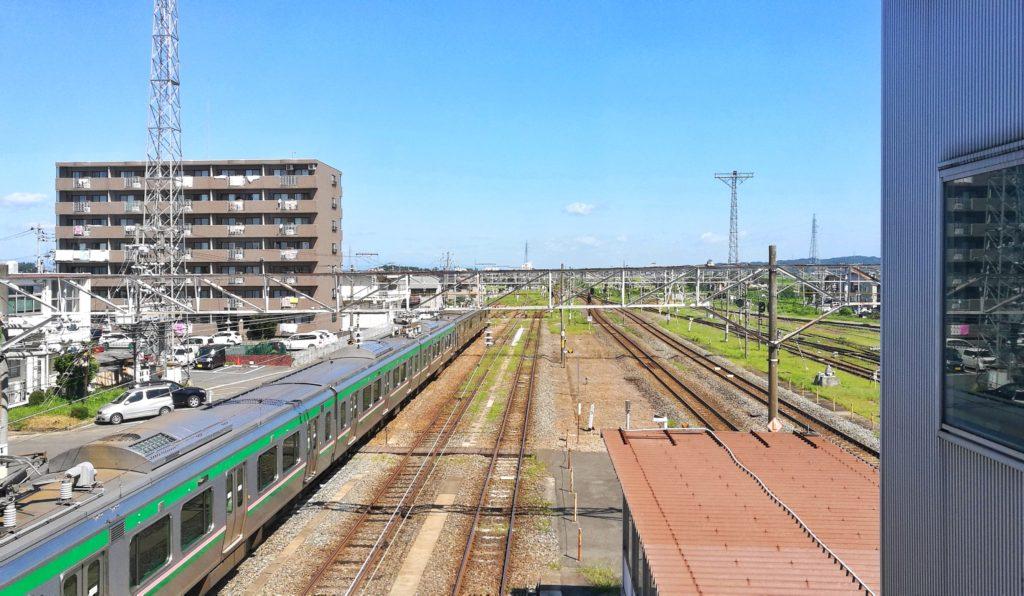 小牛田駅からの景色
