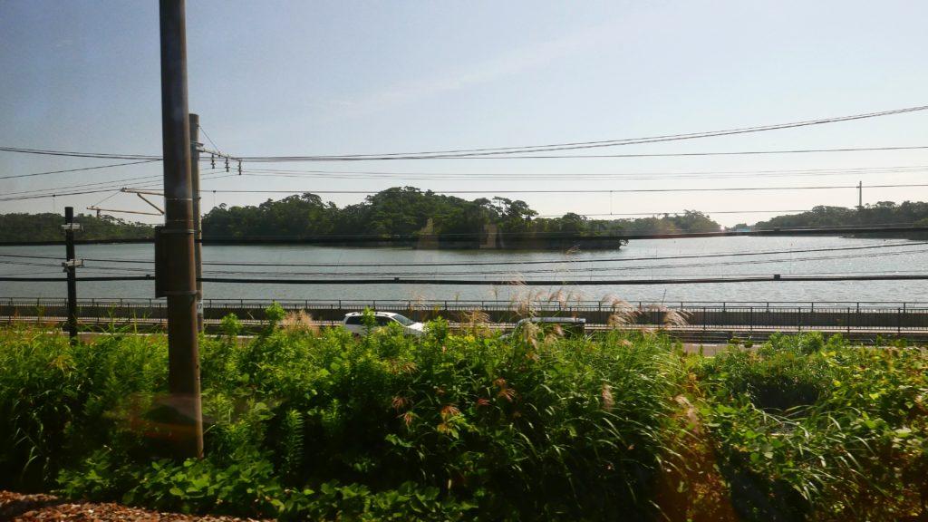 東北線から見える松島